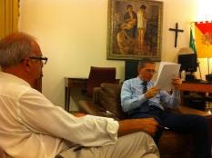 Alfio Papale e Marco Falcone, deputato regionale