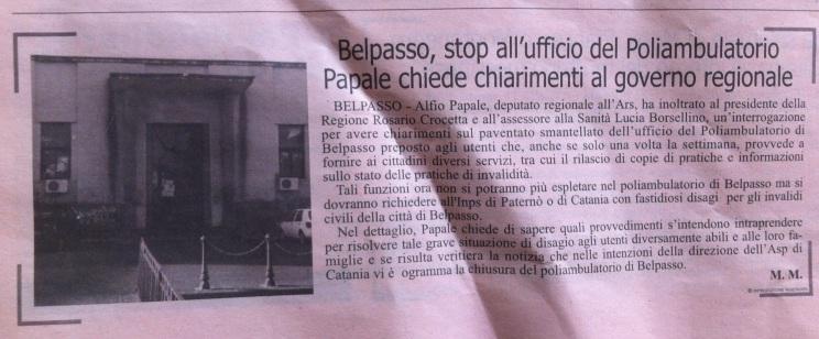 Alfio Papale su Qds